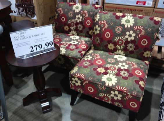 Avenue Six 3Piece Chair Accent Table Set Costco