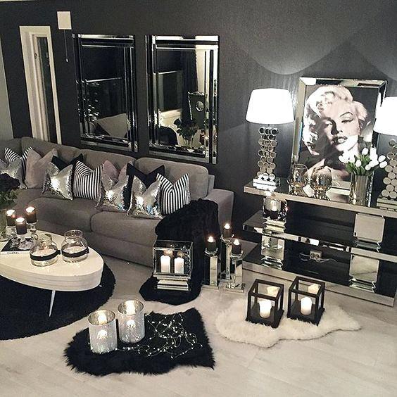 Silver Living Room Decor, Silver Living Room