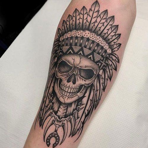 Schadel Tatowierung Ideen Indian Skull Tattoos Skull Tattoo First Tattoo