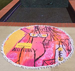 """Getting Ready Beach Roundie by Robin Hiers Acrylic ~ 60"""" x"""