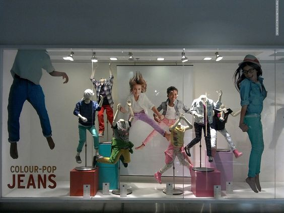 GAP Kids windows #visualmerchandising