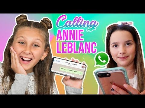 I Tried To Call Annie Leblanc And It Was Embarrassing Youtube Real Phone Numbers Annie Prank Call Numbers