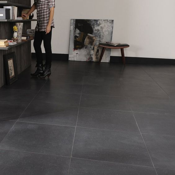 Carrelage sol noir granit 60 x 60 cm castorama for Carrelage york