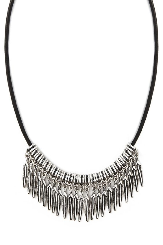 Etched Feather Choker