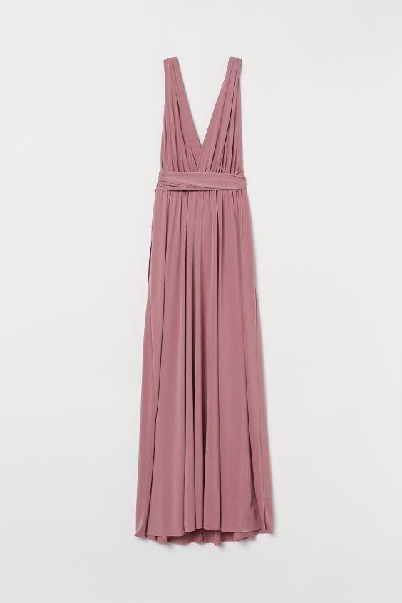 Multi Tie Maxikleid Altrosa Ladies H M De In 2020 Kleid Altrosa Lange Kleider Kleider