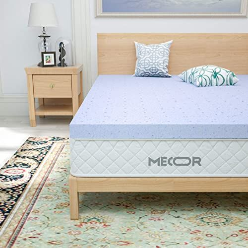 New Mecor 4 Inch 4 King Size Gel Infused Mattress Topper 4in