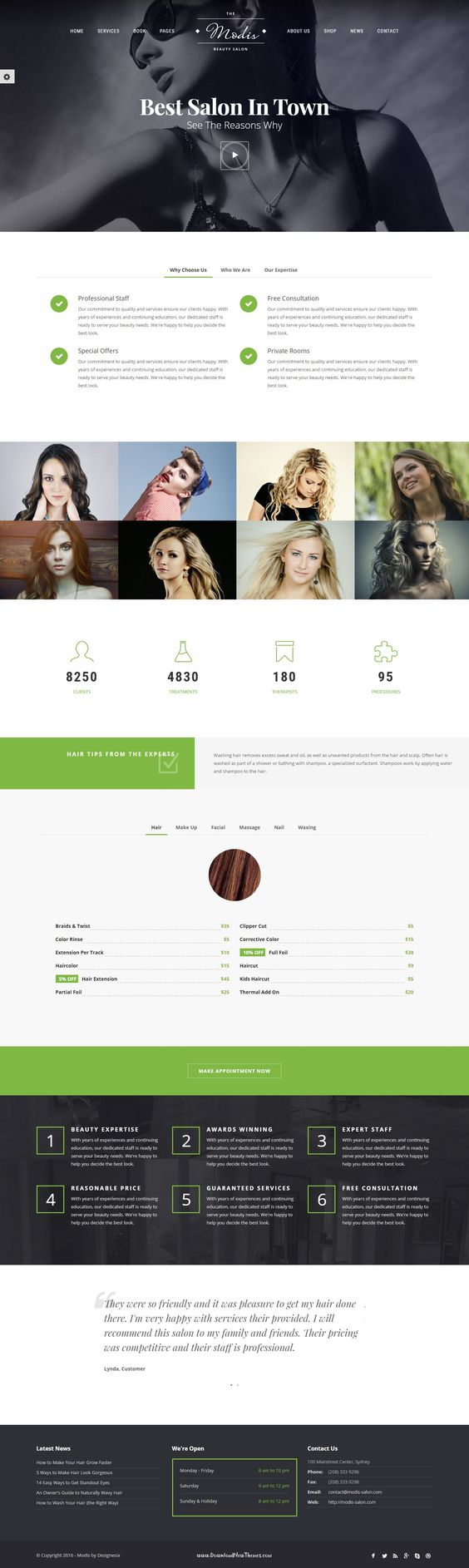 the world s catalog of ideas modis salon barber website template help you to build beauty and modern