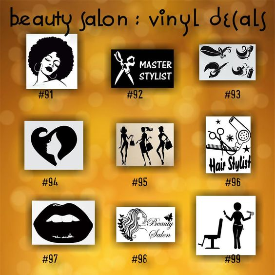BEAUTY SALON Vinyl Decals  Personalizable Car Window - Hair stylist custom vinyl decals for car