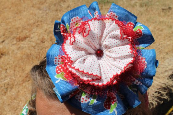 Vintage Fabric Flower Headband by melmac75 on Etsy, $12.50