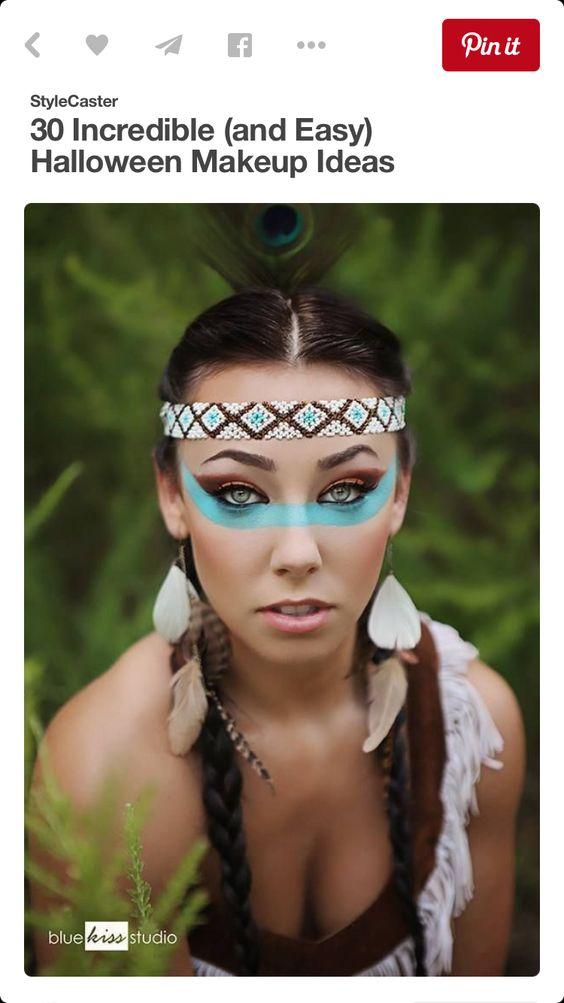Beautiful Indian Halloween costume/makeup idea