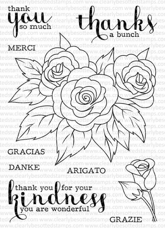 Pin By Kerry Mueller On Embroidery Clear Stamps Printable Flower Coloring Pages Stamp