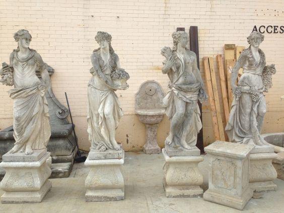 Set of Antique Four Seasons Statues