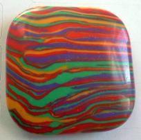 Colorful Turquoise Square Pendant Bead