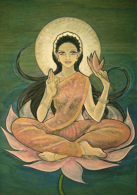 Lakshmi - è la devi dell'abbondanza, della luce, della saggezza e del destino, ma anche (secondariamente) fortuna, bellezza e fertilità: