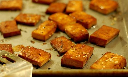 ... Tofu Squares | Food and Recipe | Pinterest | Tofu, Baked Tofu and Tofu