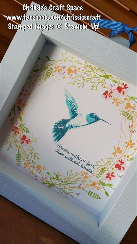 Hummingbird & Wreath Large Shadowbox