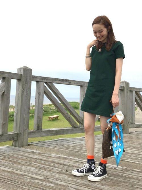 mio demyleeのワンピースを使ったコーディネート wear ファッション ファッションコーディネート カジュアルコーデ