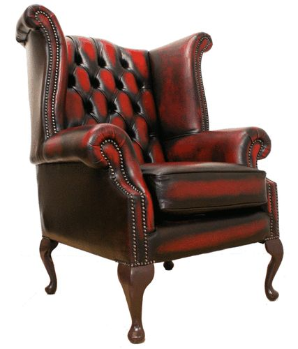 anne chairs leather chesterfield wings art queen wing chairs oxblood