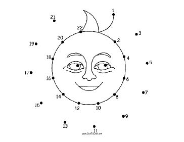 This printable dot to dot puzzle features a happy cartoon sun with ...