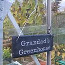 Engraved Slate Grandad's Garden Sign