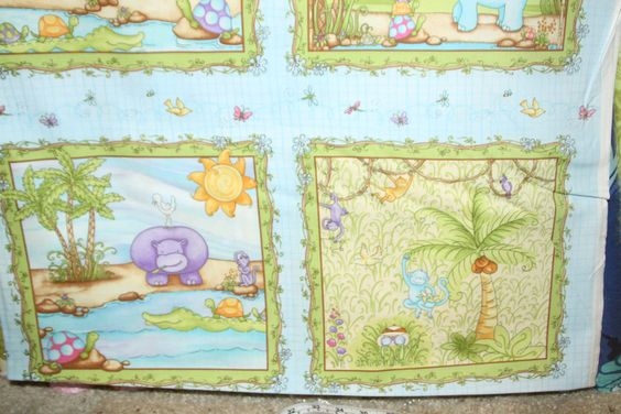 StudioE Fabric - One Yard - Jungle Baby Blue 5785 - pinned by pin4etsy.com