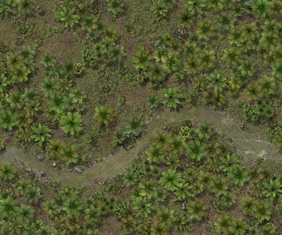 Pinterest Jungle Buildings: Карты для D&D (фрагменты