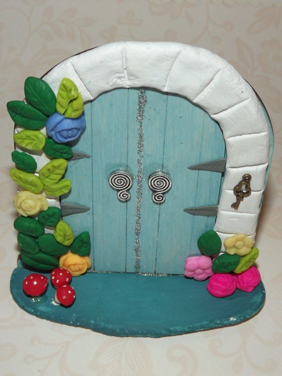 Fairy Door Double Fairy Door faery door by magikallittlethings