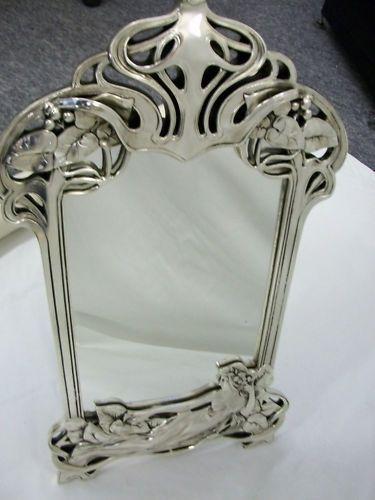 Art nouveau mirror and art on pinterest for Miroir art nouveau