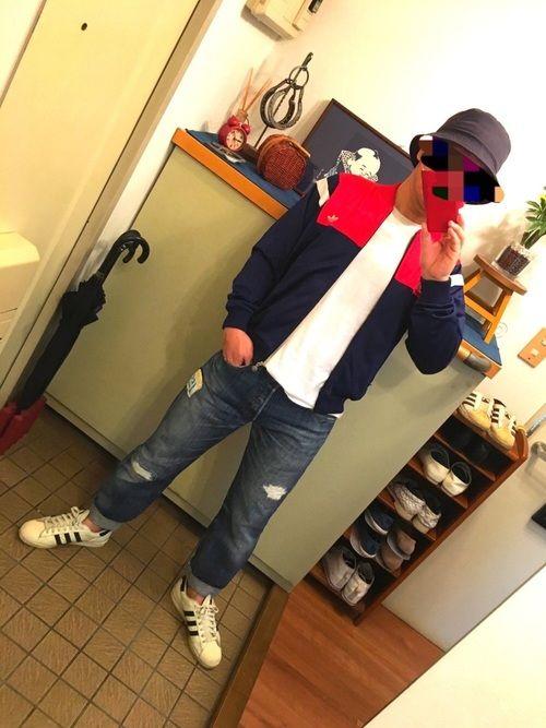中学6年生 Adidasのジャケット アウターを使ったコーディネート