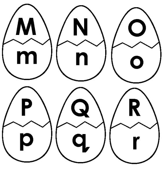 Easter Alphabet Coloring Pages : Easter egg letter match alphabet game