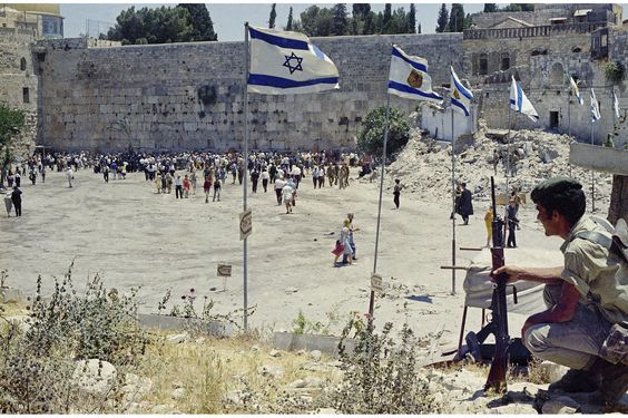 After the Six-Day War ended on June 10, 1967, Israel had taken control of East Jerusalem, the West Bank, the Gaza Strip, the Sinai and the G...