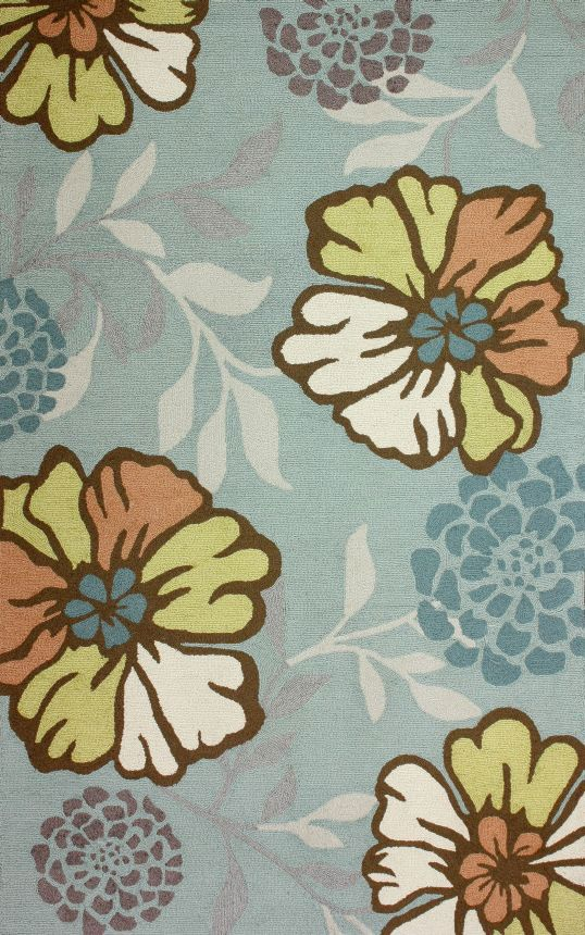 Rugs usa hacienda floral indoor outdoor air22 multi rug for Outdoor rugs on sale discount