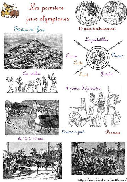 Grèce, les premiers jeux olympiques...
