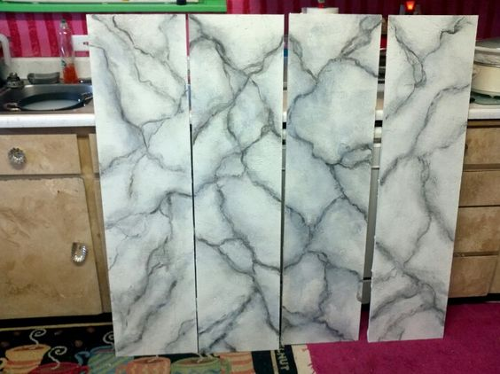 """Painting """"marble"""" pillars for a night in rome"""