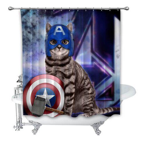 Avengers Endgame Goose Cat America Custom Shower Curtain 100