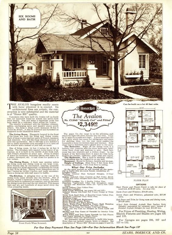 Avalon sears kit home i love these old plans from the 20 for 1930s house plans