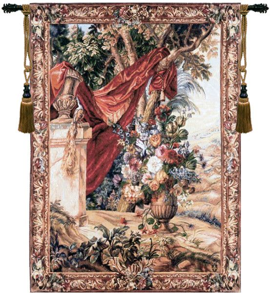 Bouquet Au Drape I European Tapestry Wall hanging