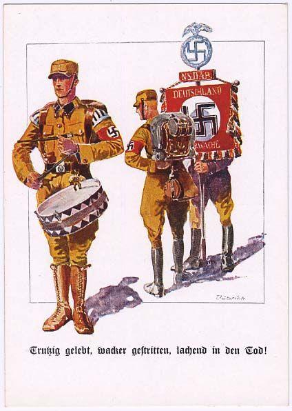 "SA Propagandapostkarte ""Hinein in Hitlers Sturm-Abteilung!"","