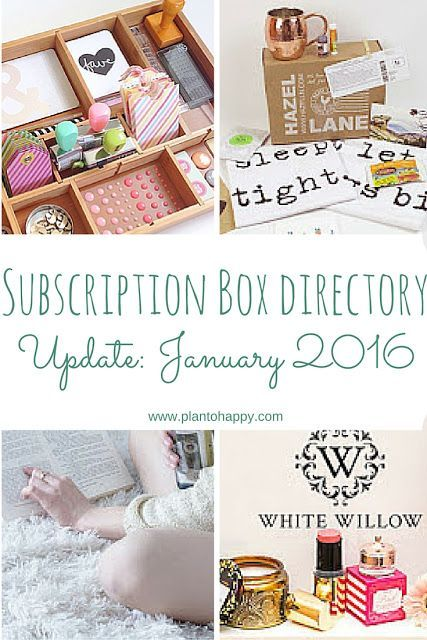 Subscription Box Directory Update January 2016 For