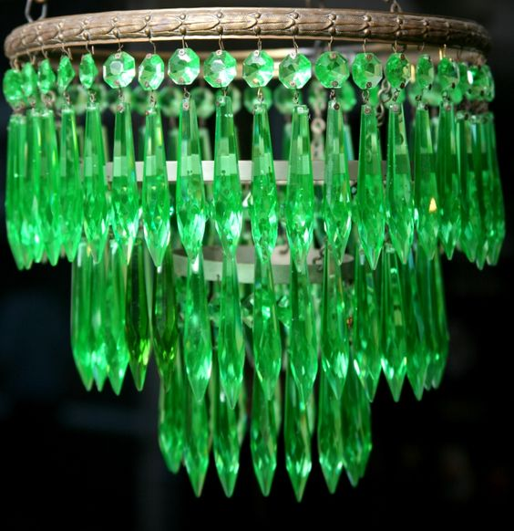 uranium glass chandelier