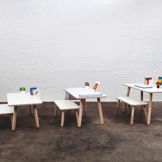 Pure Position Growing Table in weiss - Mitwachsender Kindertisch mit Stühlen. Jetzt bestellen! #KidsWoodLove