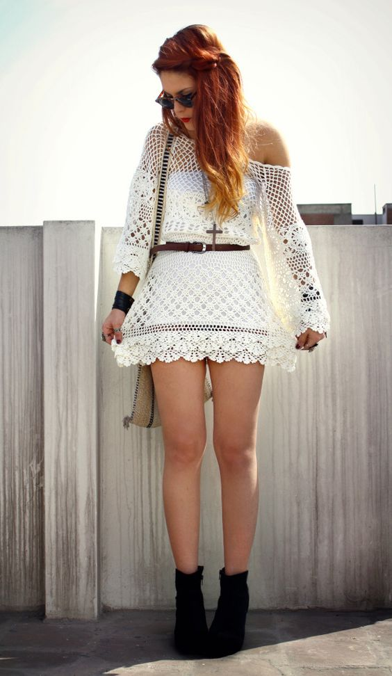 Hand Knit Delicacy of Crochet Dress - I'm so gonna buy it :)
