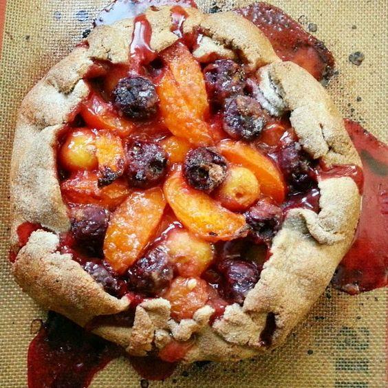 Summer fruit galette with a gluten-free buckwheat crust