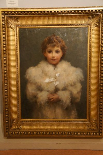 Study of a Young Girl in a white fur coat. ( The White Ribbon) by