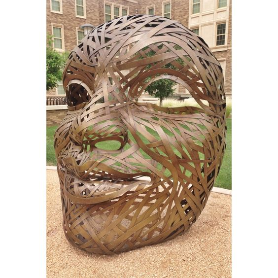 Four Faces sculptures at Talkington Hall on Texas Tech campus.  #TexasTech #TTAA #SupportTradition