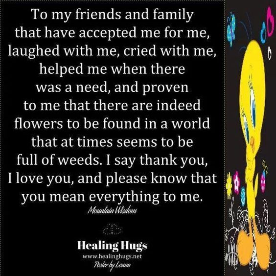 To all my friends and family