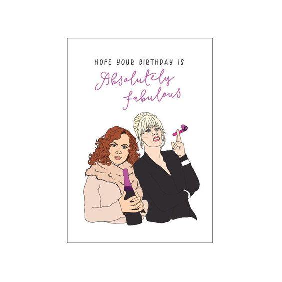 Ab Fab Birthday Gift Card