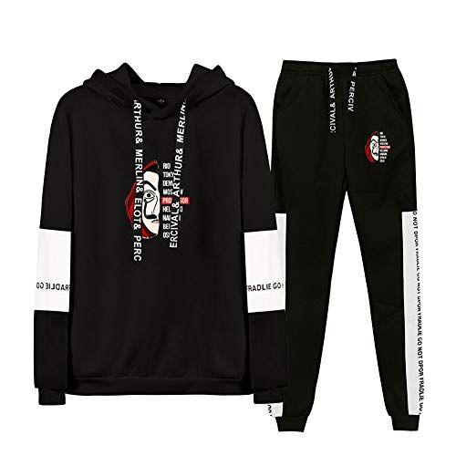 2 Pcs ensemble sweats à capuche Sportswear Homme survêtement Hoodies pantalons
