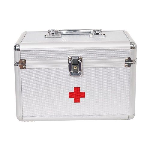 Dporticus First Aid Kit Lockable First Aid Box Security Lock Medicine Storage Box Lockable Storage Box First Aid Medicine Storage