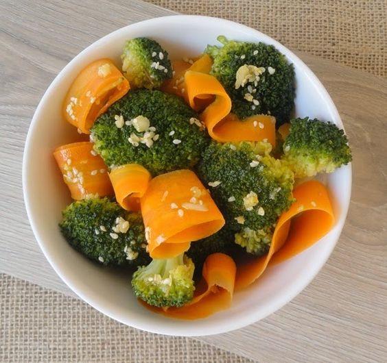 Um robô na cozinha: Salada de brócolis com cenoura